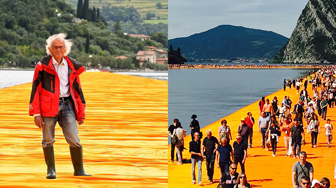 Karya Seni Instalasi 'The-Floating Piers'
